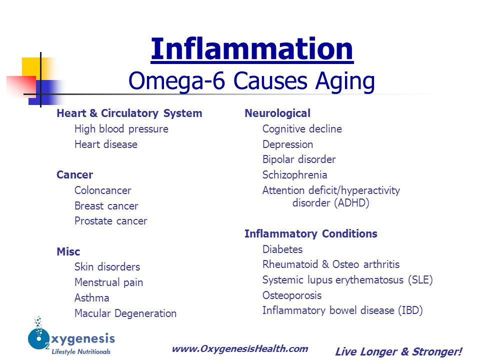 Inflammation Omega-6 Causes Aging