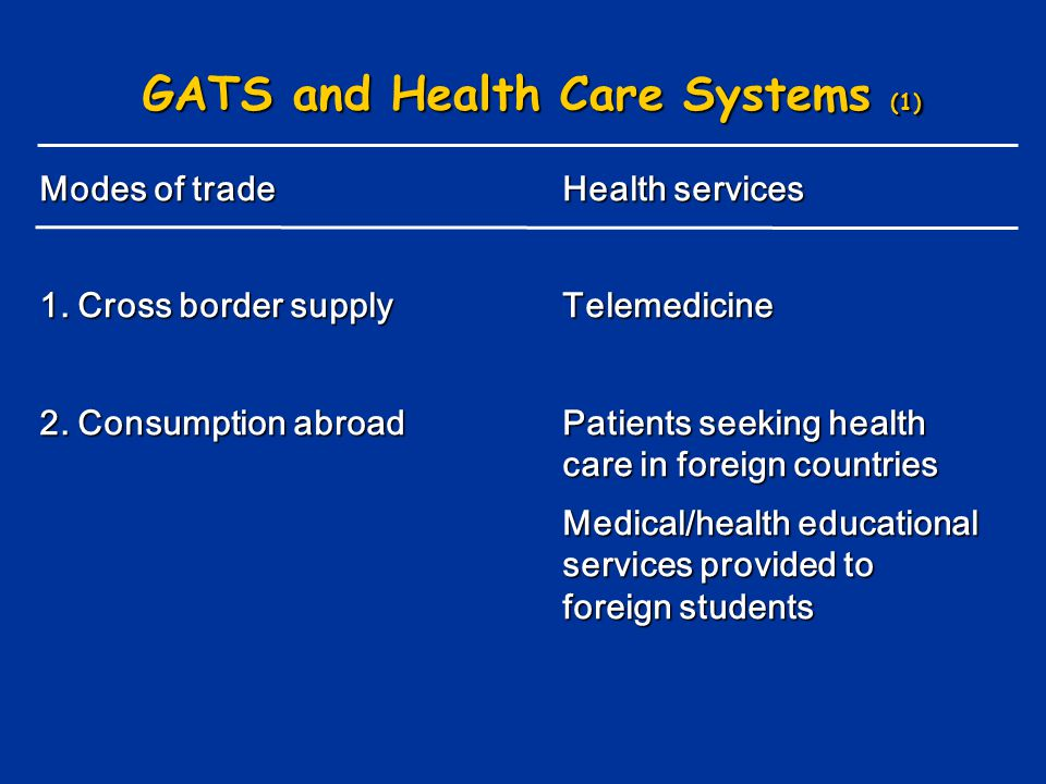 GATS and Health Care Systems (1)