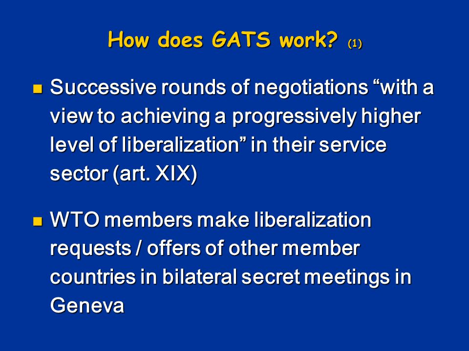 How does GATS work (1)