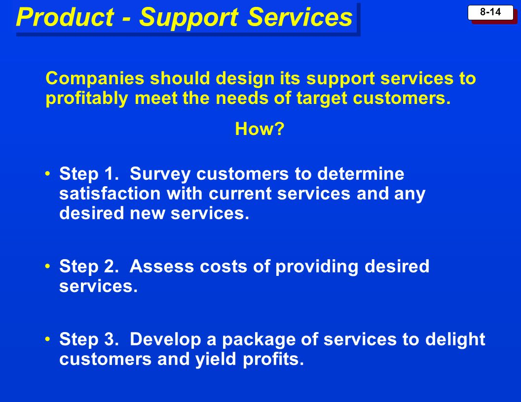Product - Support Services