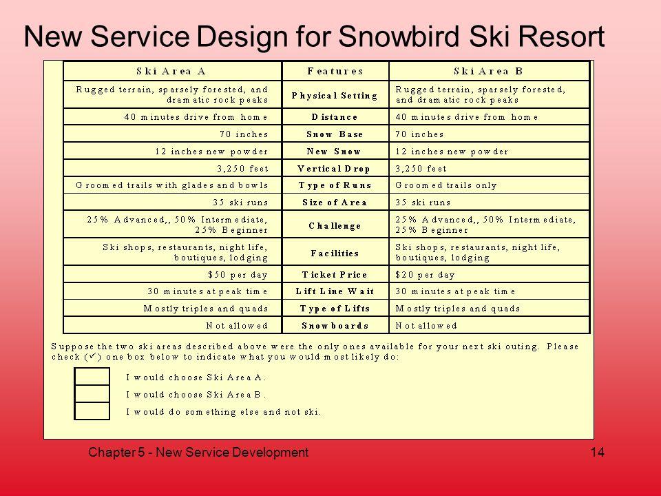 New Service Design for Snowbird Ski Resort
