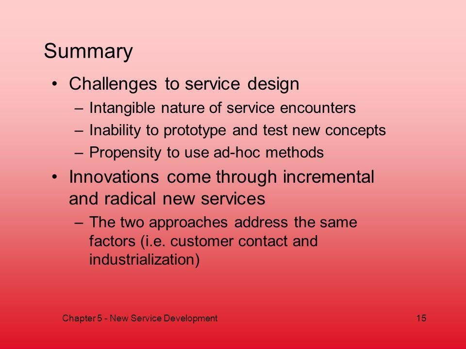 Chapter 5 - New Service Development