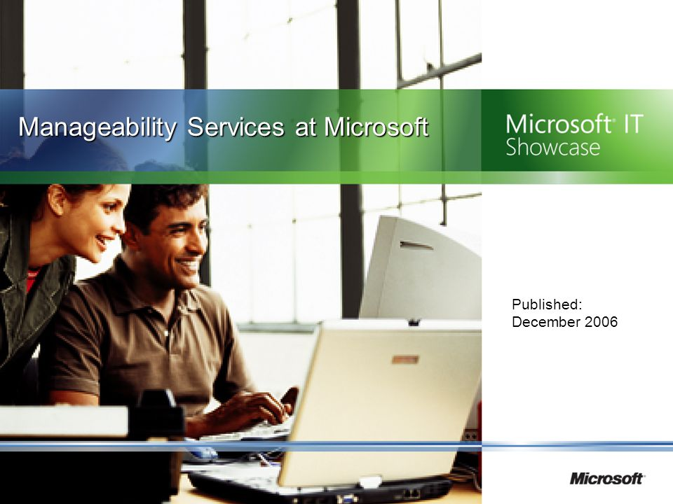 Manageability Services at Microsoft