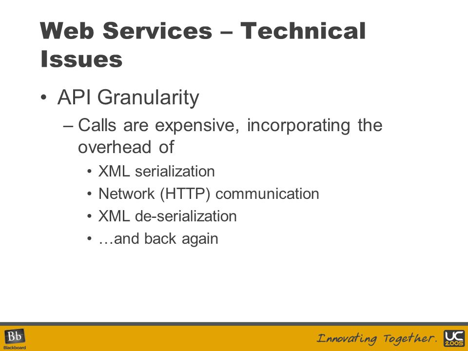 Web Services – Technical Issues