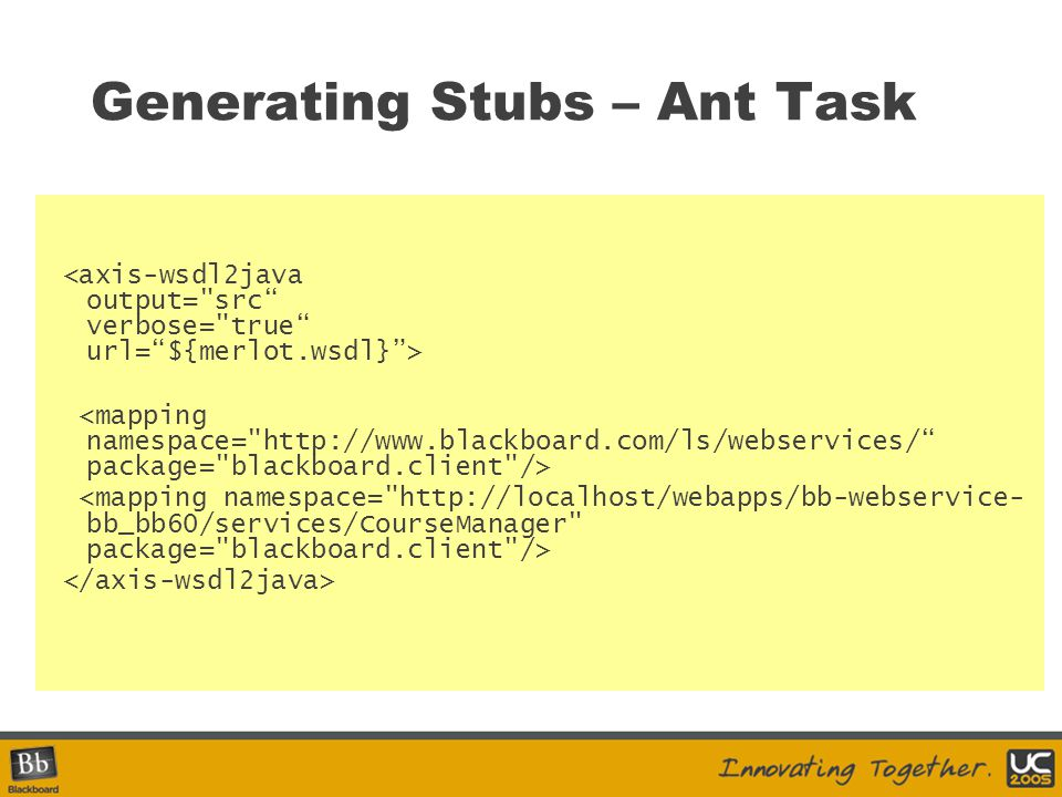 Generating Stubs – Ant Task