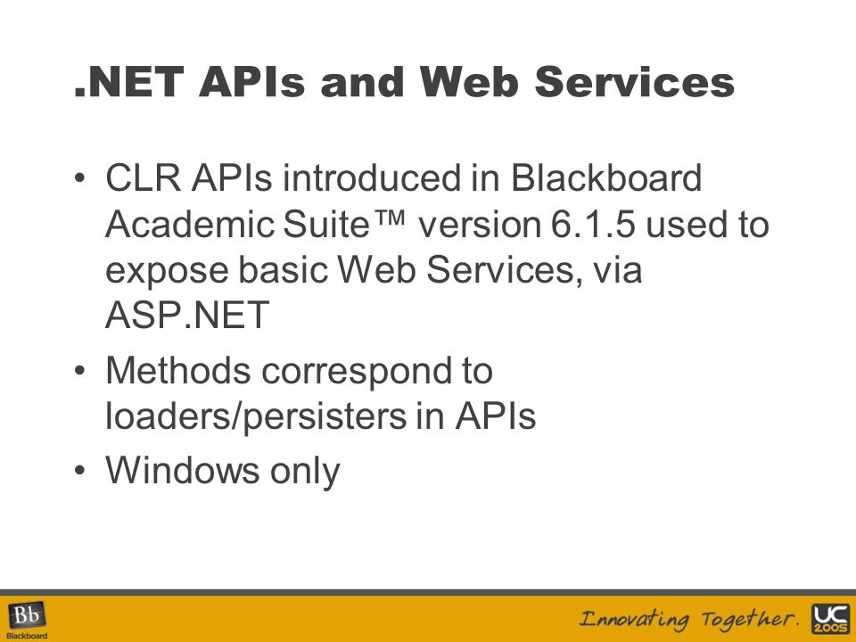 .NET APIs and Web Services