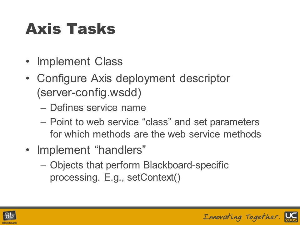 Axis Tasks Implement Class