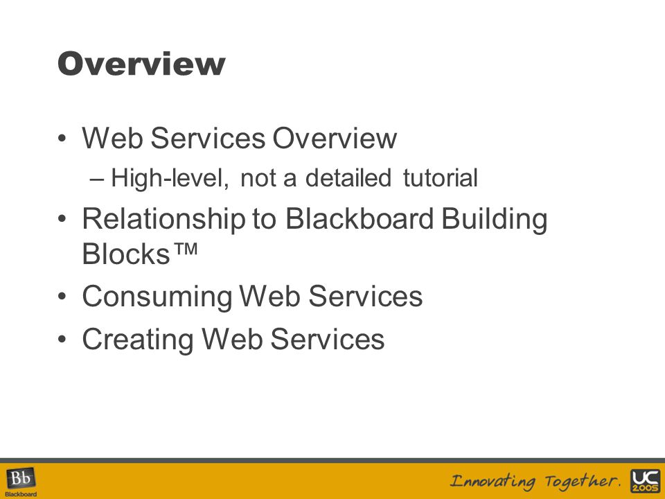 Overview Web Services Overview