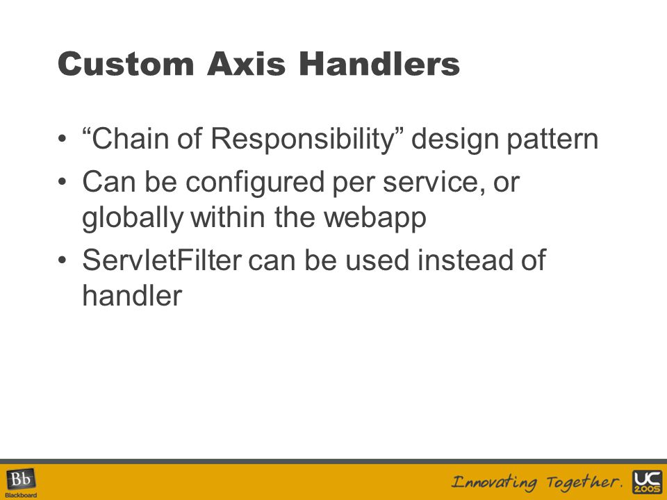 Custom Axis Handlers Chain of Responsibility design pattern