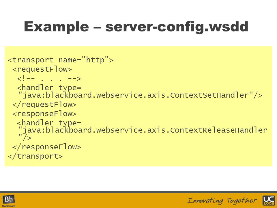 Example – server-config.wsdd