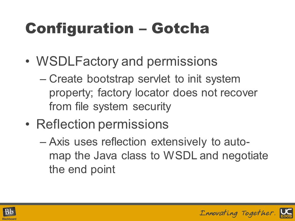 Configuration – Gotcha
