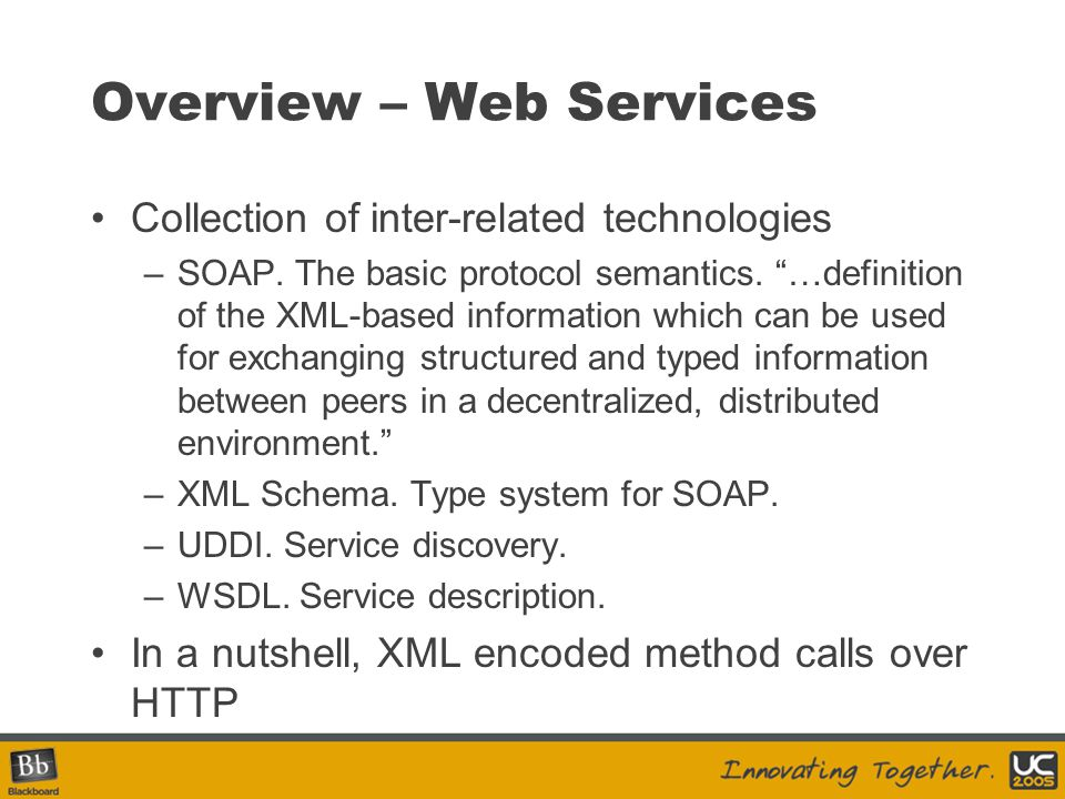 Overview – Web Services