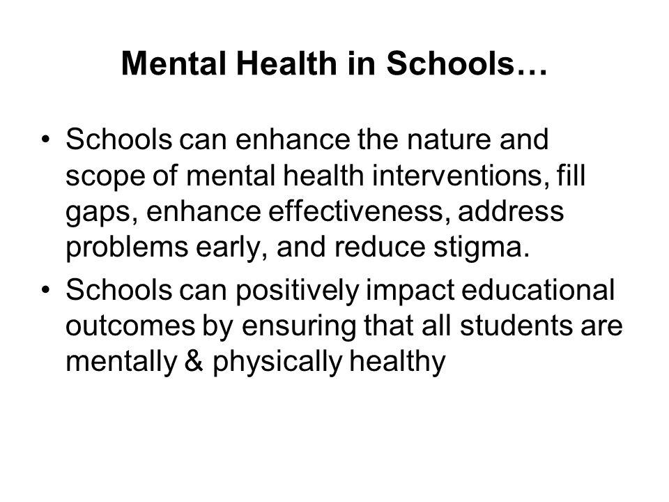 Mental Health in Schools…