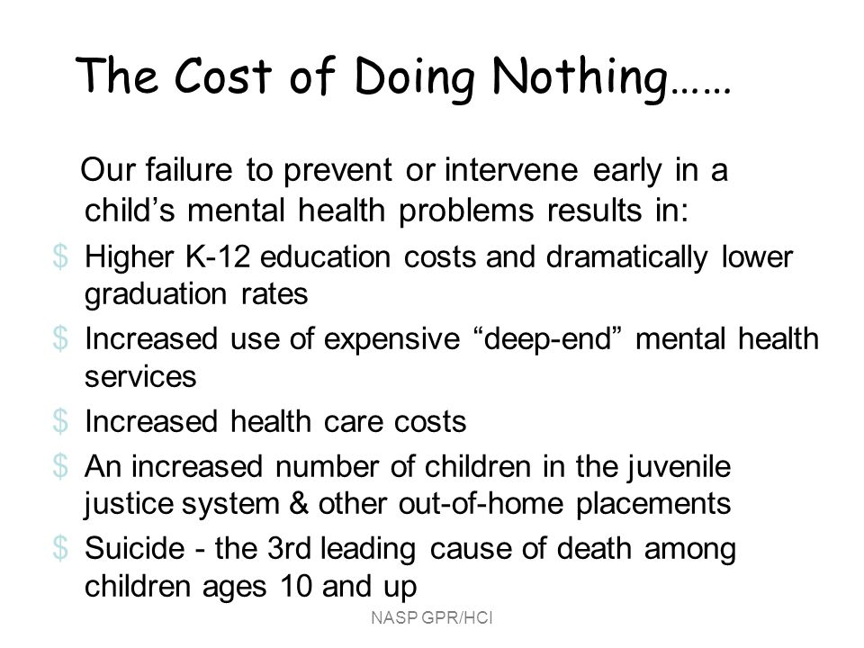 The Cost of Doing Nothing……