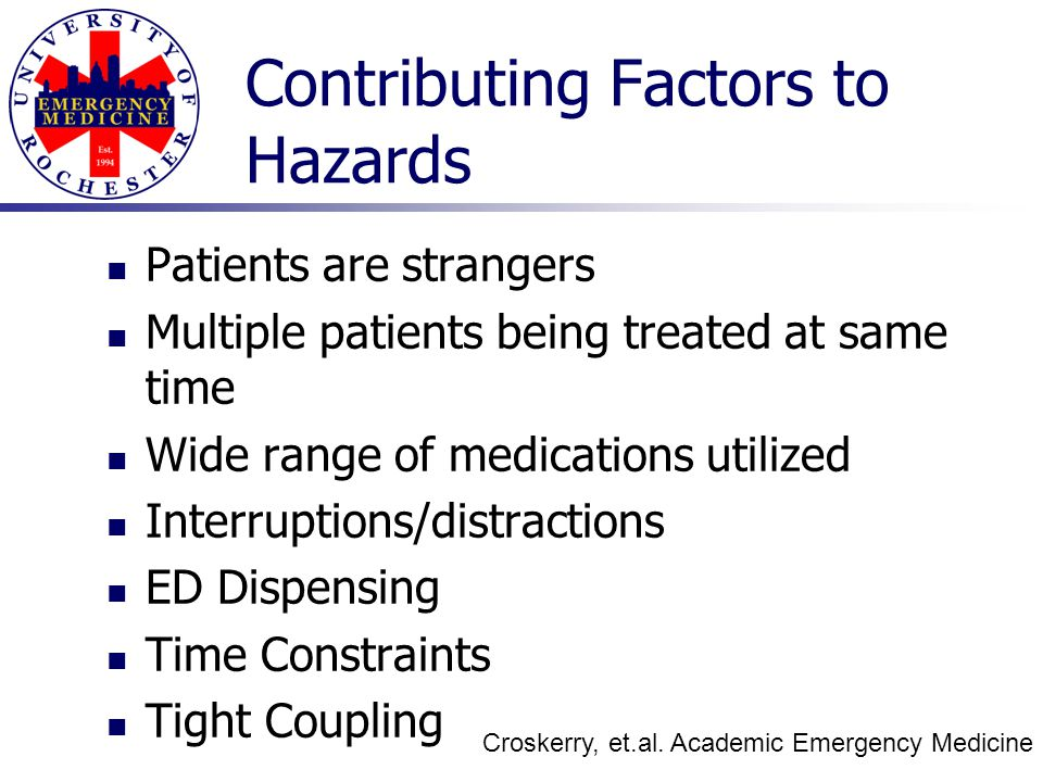 Contributing Factors to Hazards