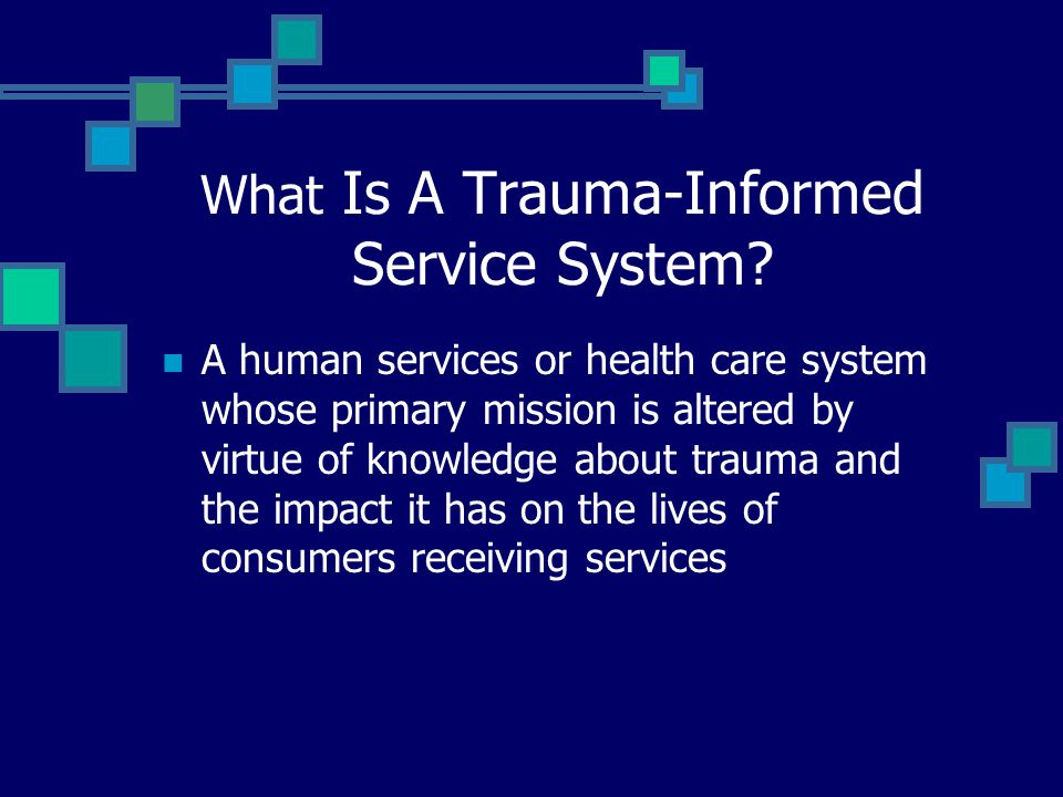 What Is A Trauma-Informed Service System