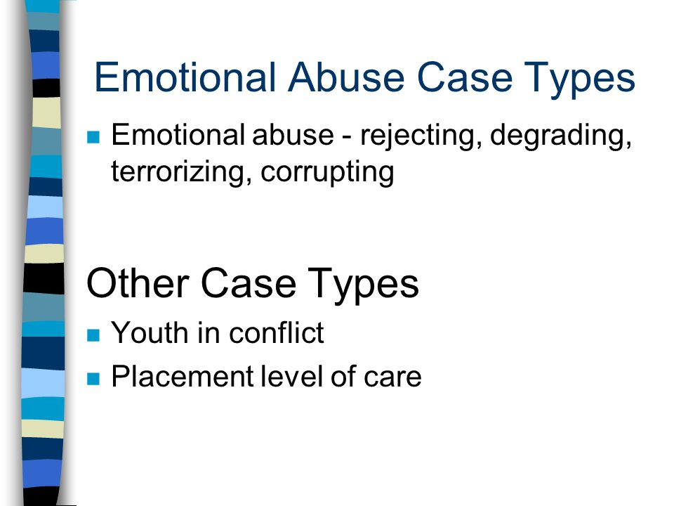 Emotional Abuse Case Types