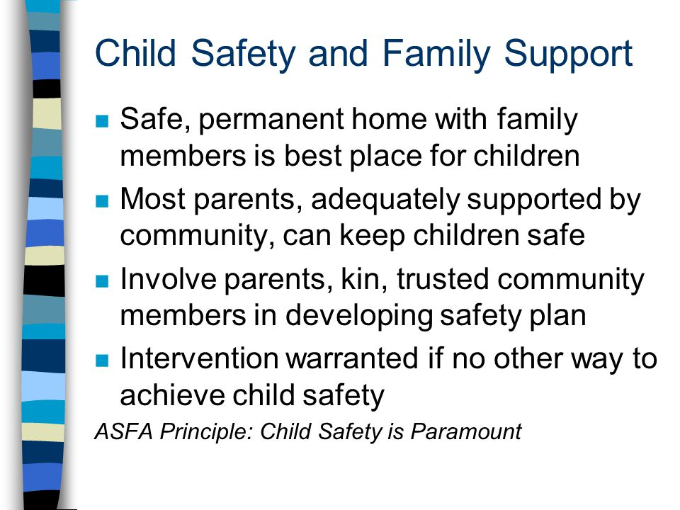Child Safety and Family Support