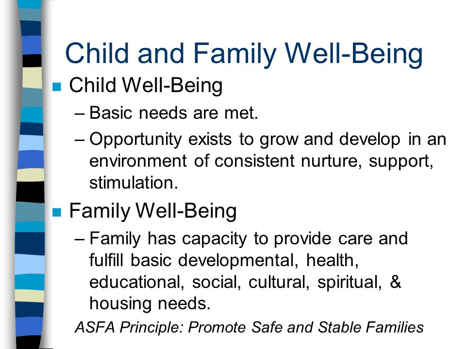 Child and Family Well-Being