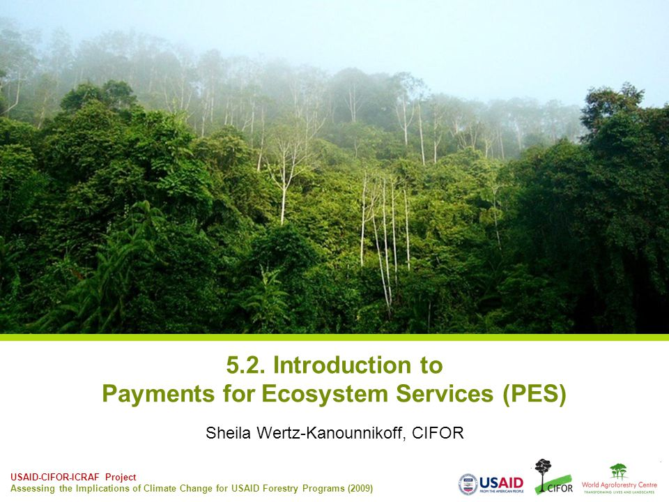 5.2. Introduction to Payments for Ecosystem Services (PES)