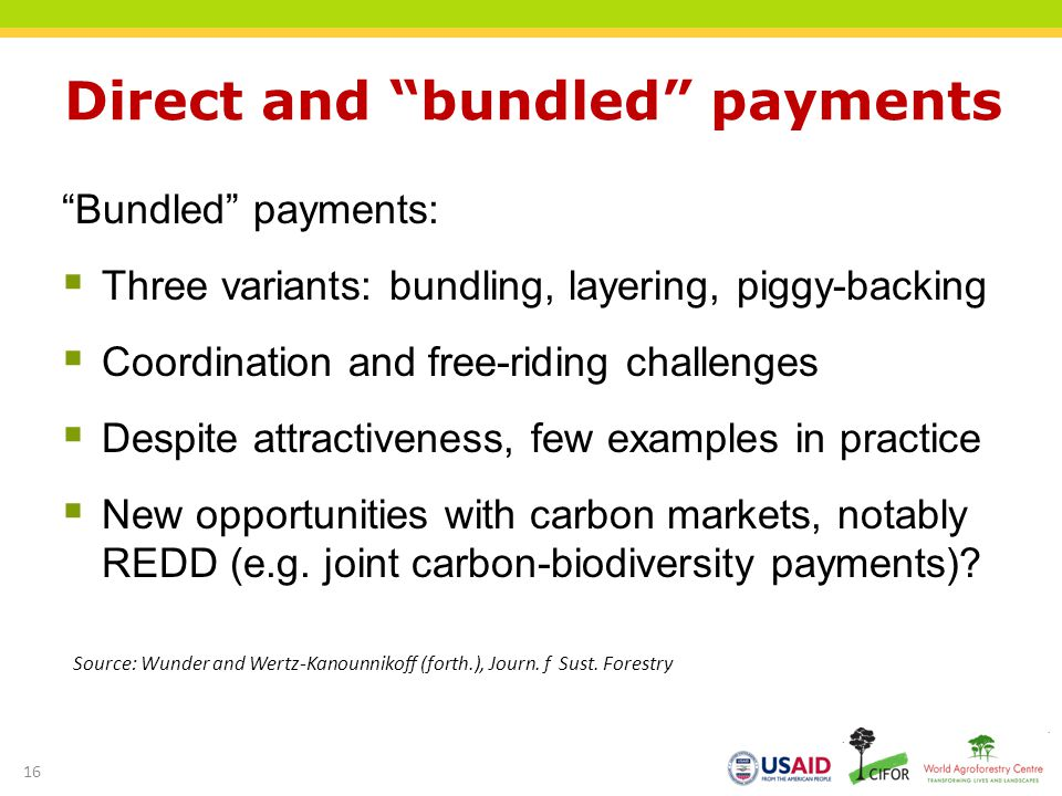 Direct and bundled payments