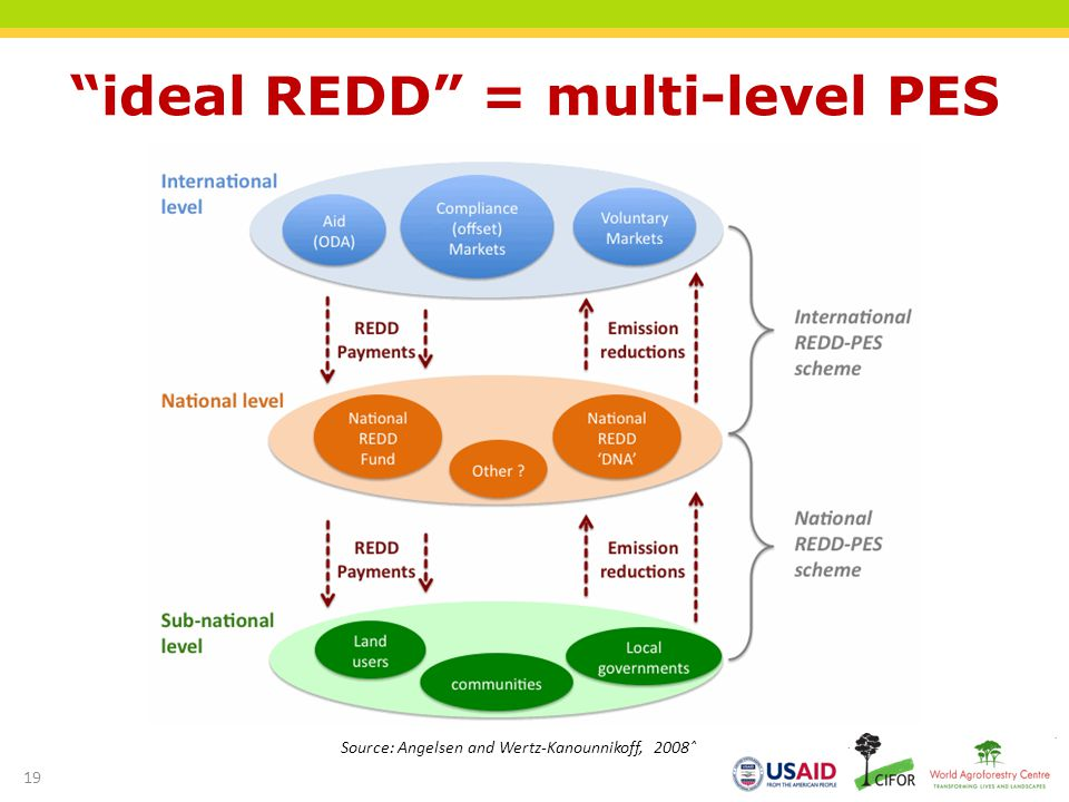 ideal REDD = multi-level PES