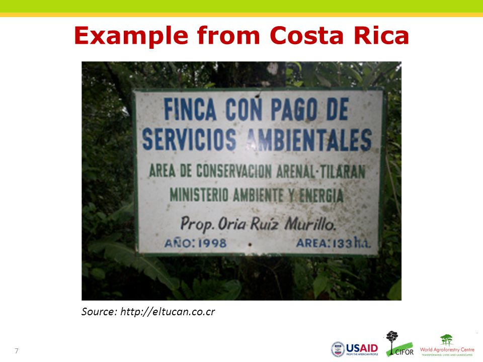 Example from Costa Rica