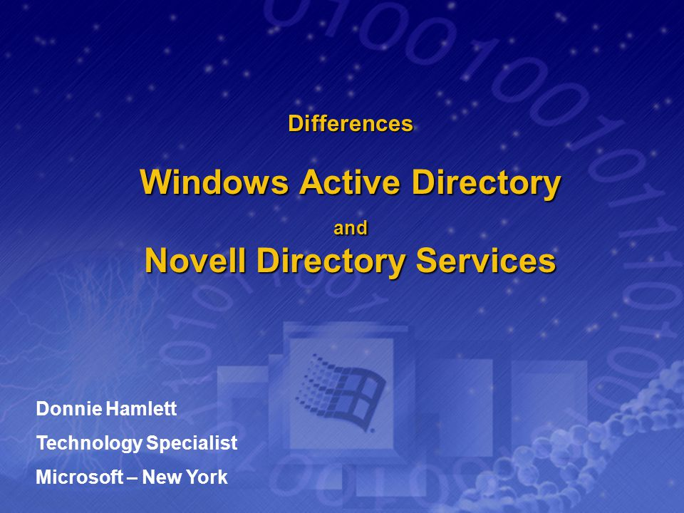Differences Windows Active Directory and Novell Directory Services