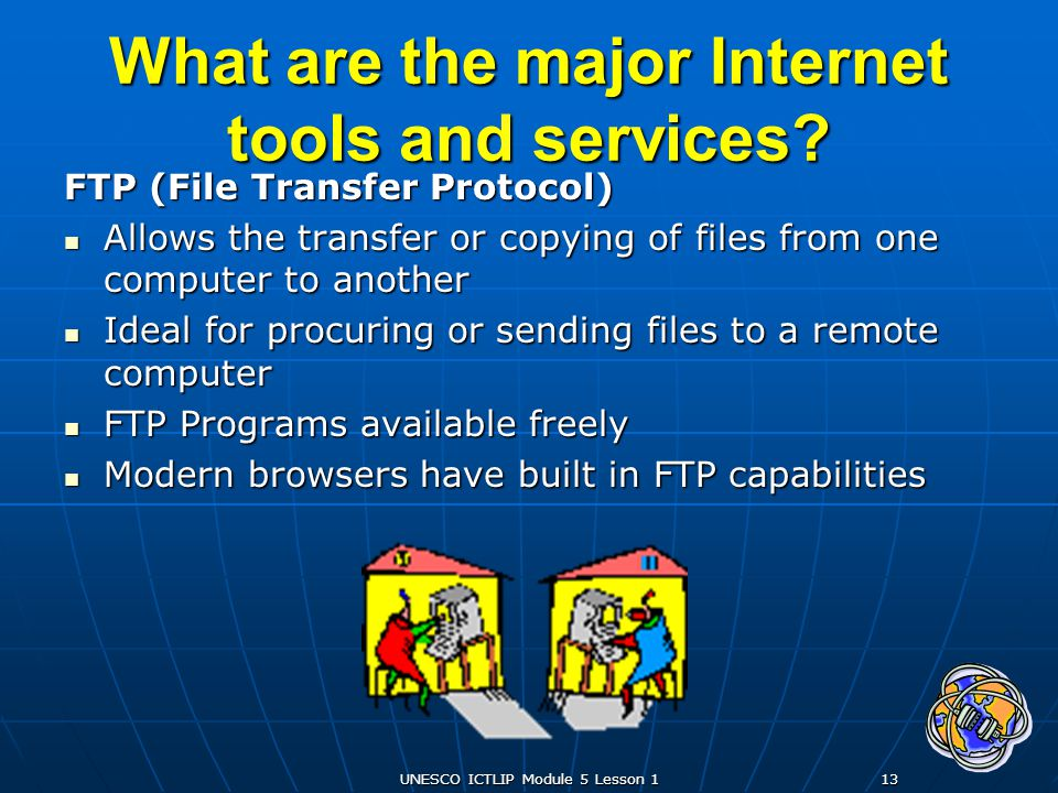 What are the major Internet tools and services
