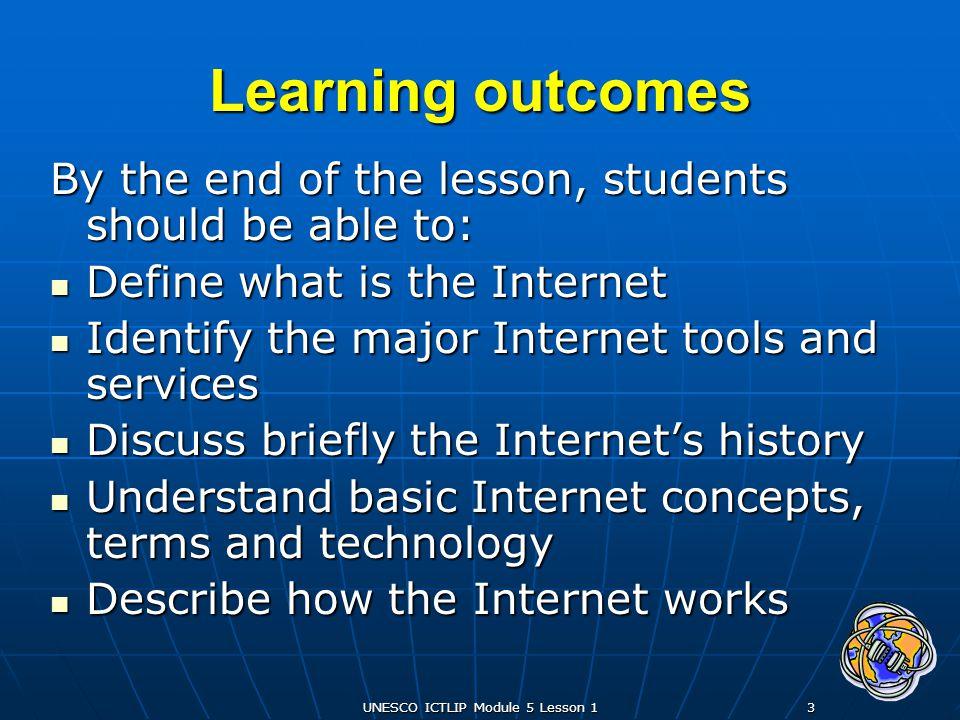 UNESCO ICTLIP Module 5 Lesson 1