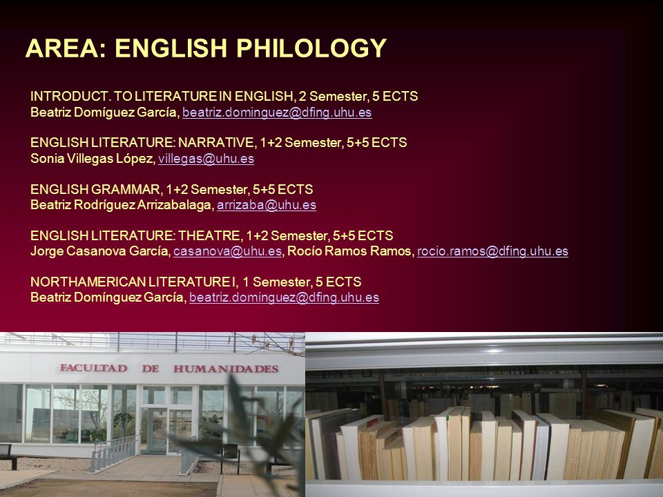 AREA: ENGLISH PHILOLOGY