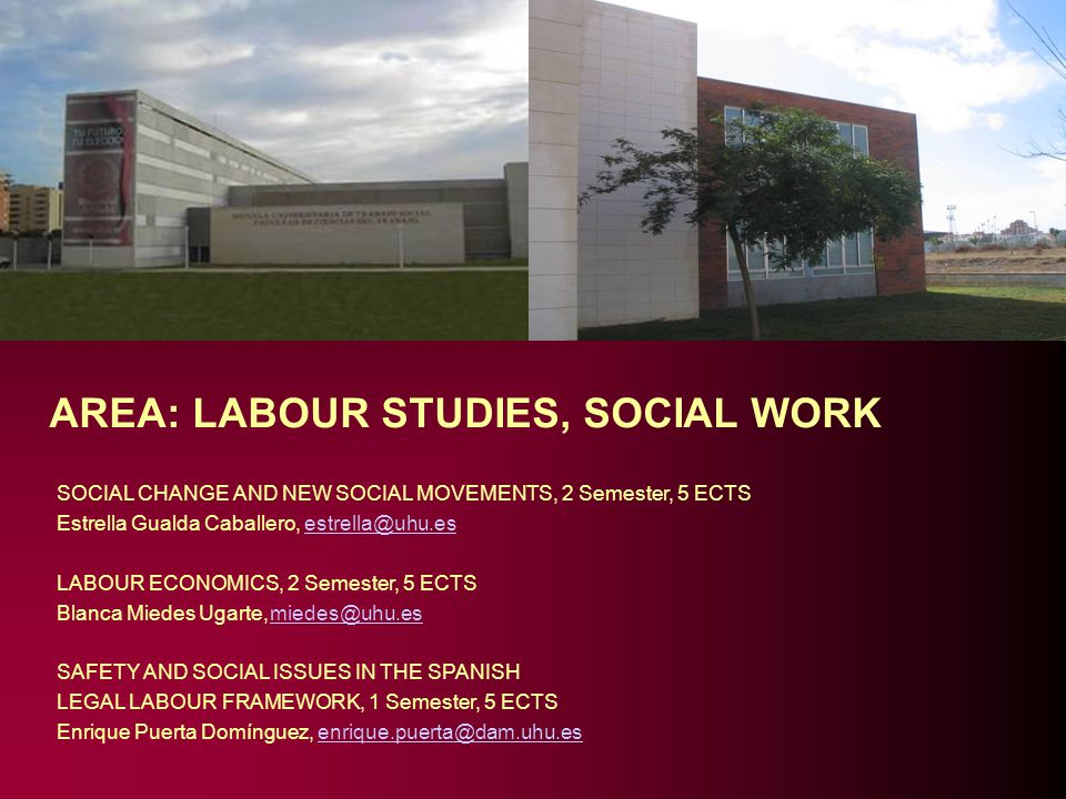 AREA: LABOUR STUDIES, SOCIAL WORK