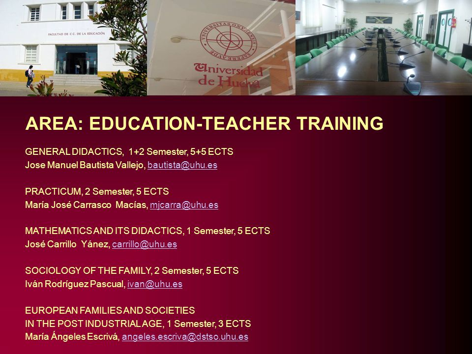 AREA: EDUCATION-TEACHER TRAINING