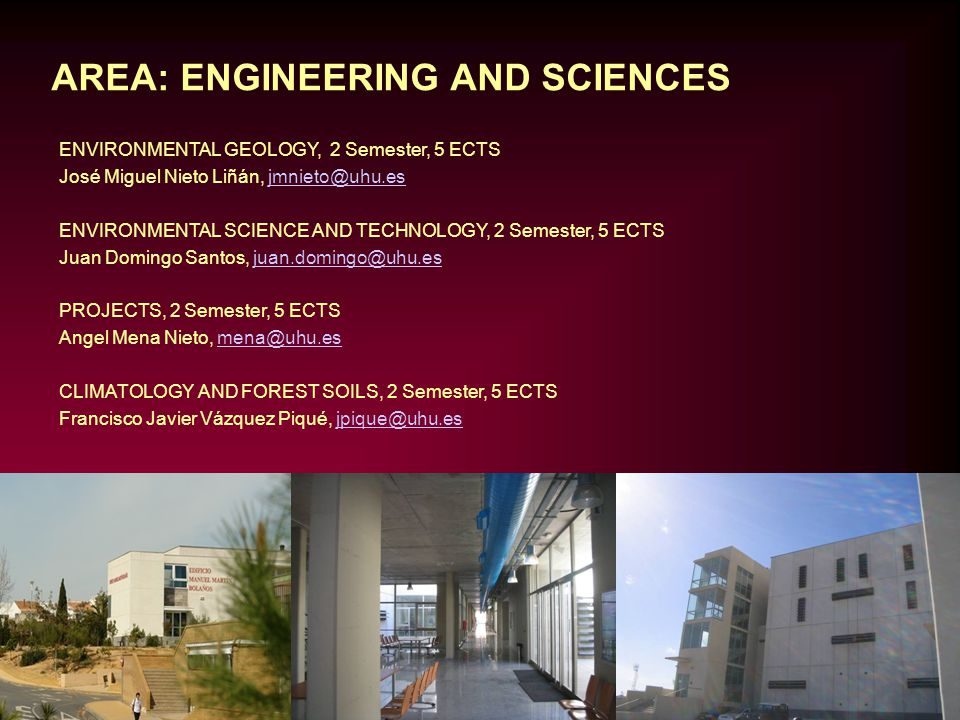 AREA: ENGINEERING AND SCIENCES