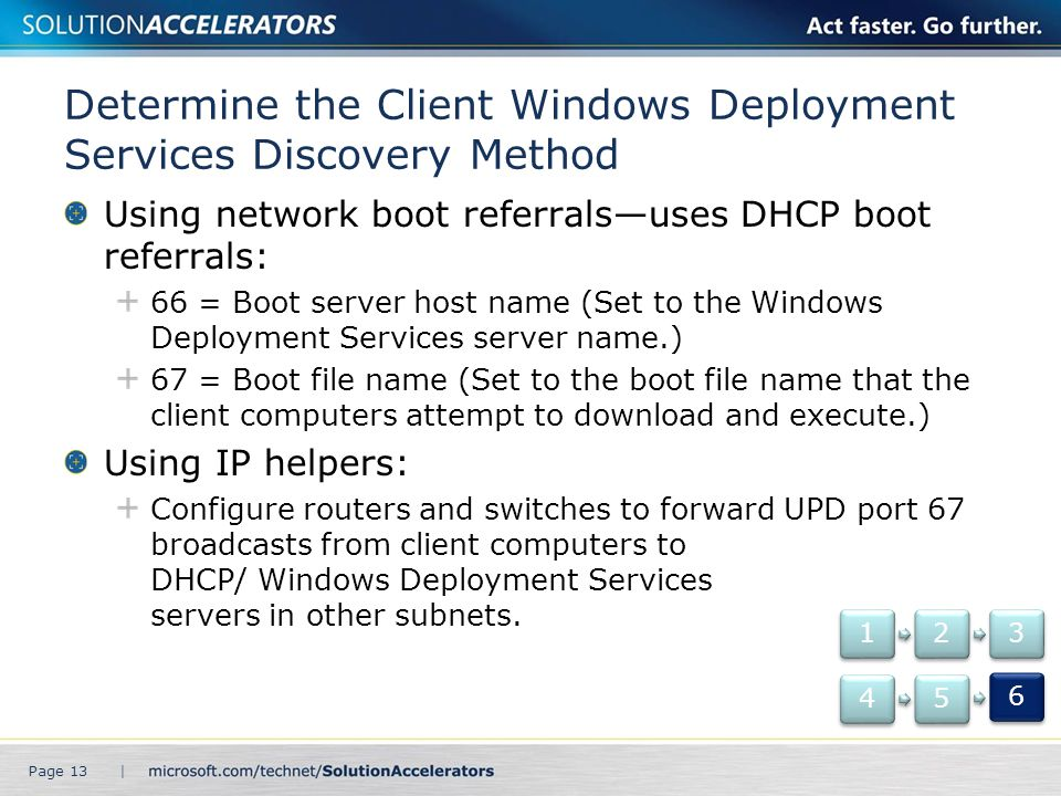 Determine the Client Windows Deployment Services Discovery Method