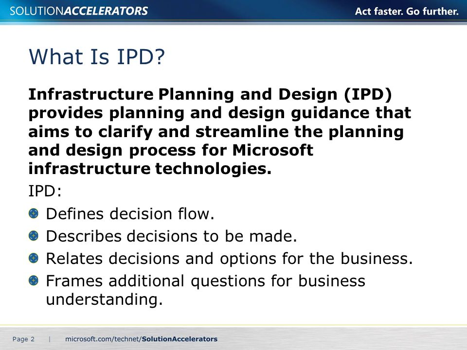What Is IPD
