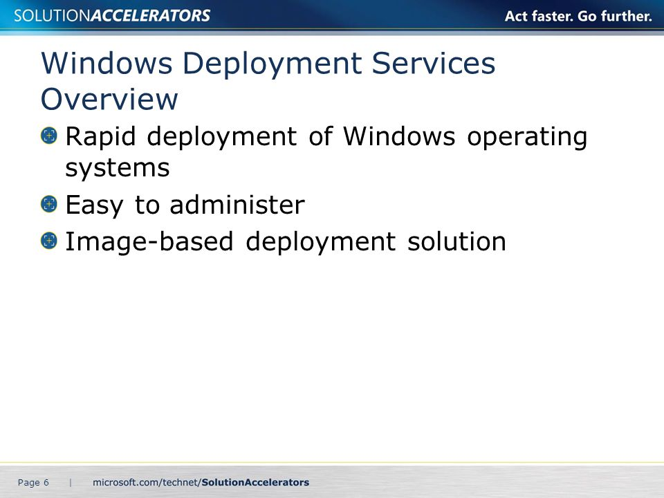 Windows Deployment Services Overview