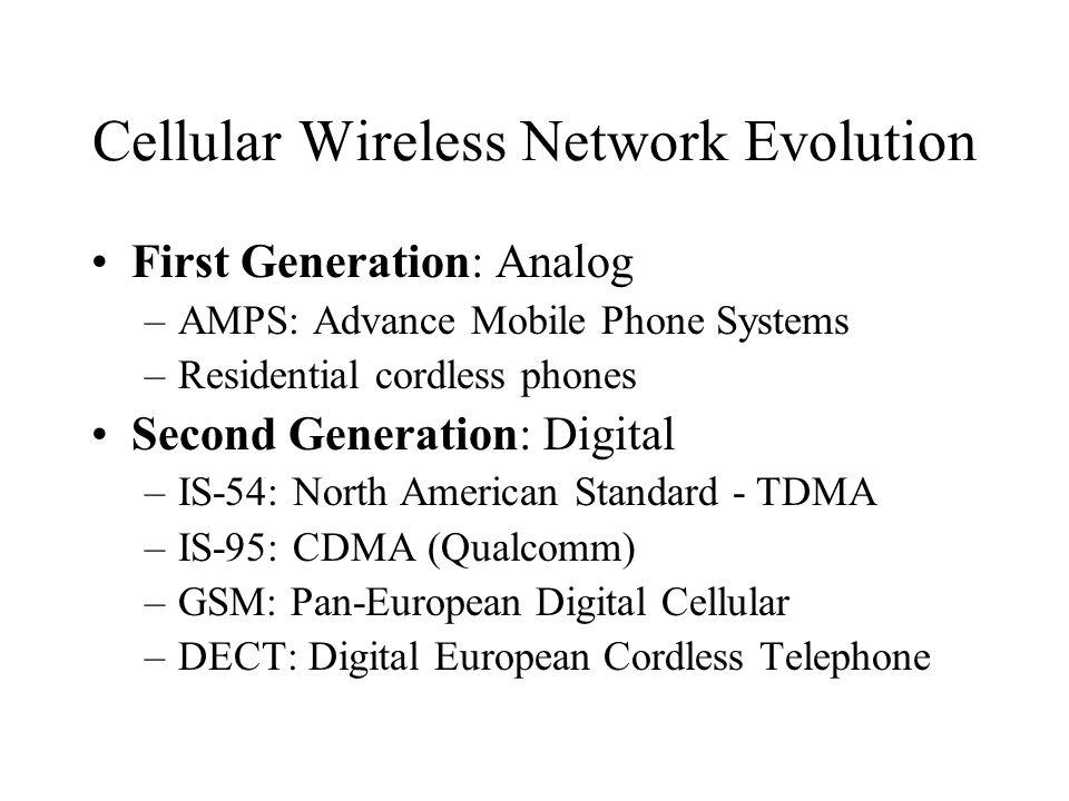 Cellular Wireless Network Evolution