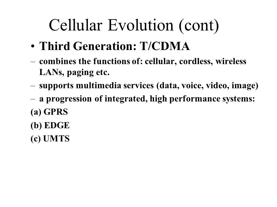 Cellular Evolution (cont)