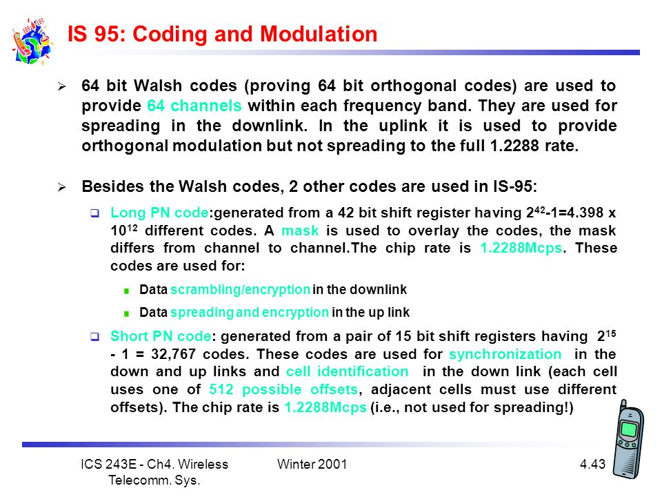IS 95: Coding and Modulation