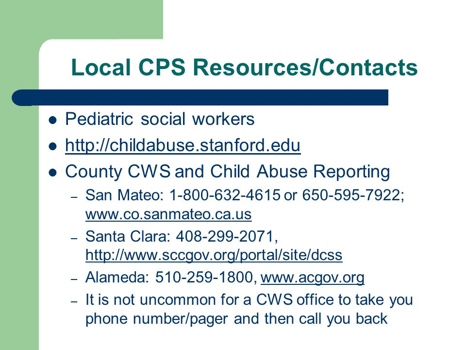Local CPS Resources/Contacts