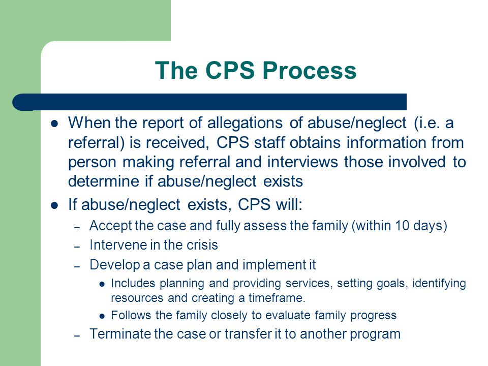 The CPS Process