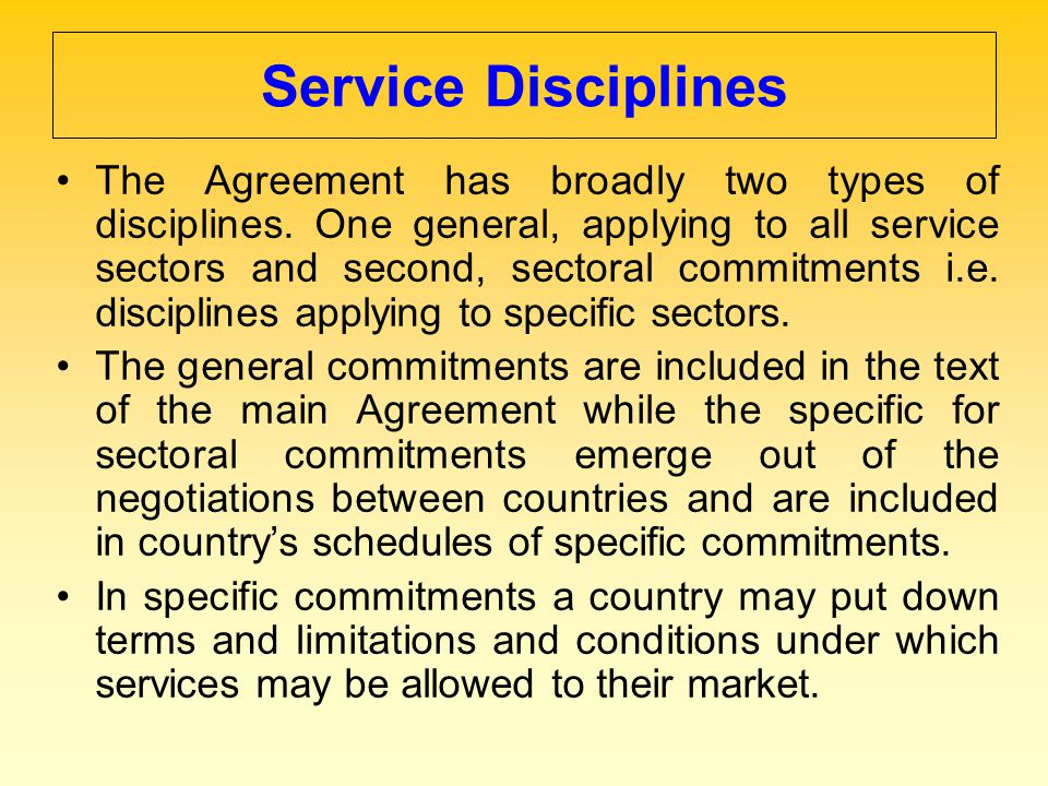 Service Disciplines