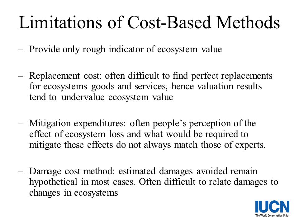 Limitations of Cost-Based Methods