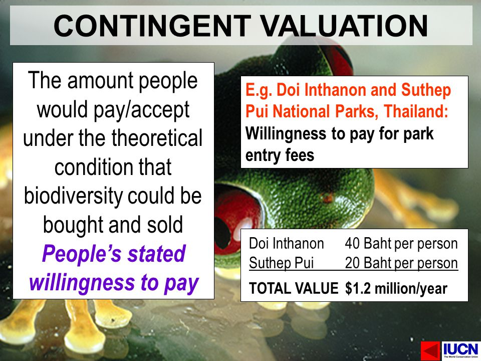 People's stated willingness to pay