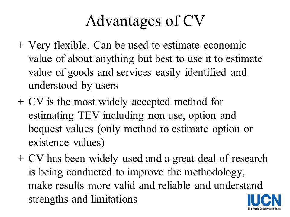 Advantages of CV
