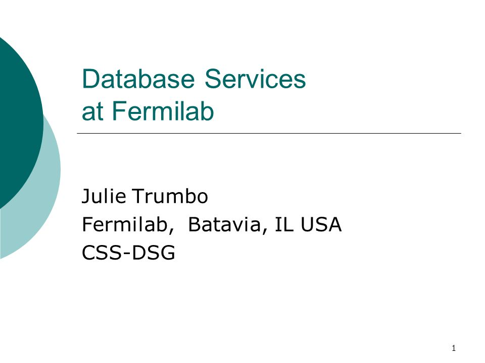 Database Services at Fermilab