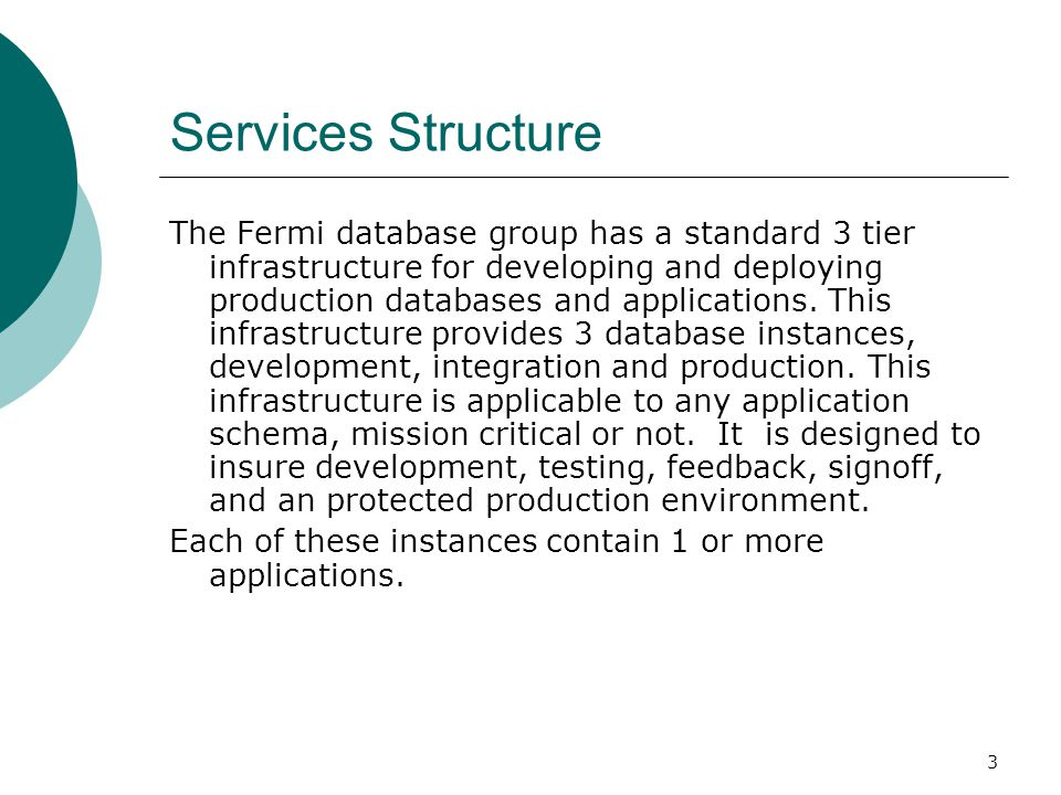 Services Structure