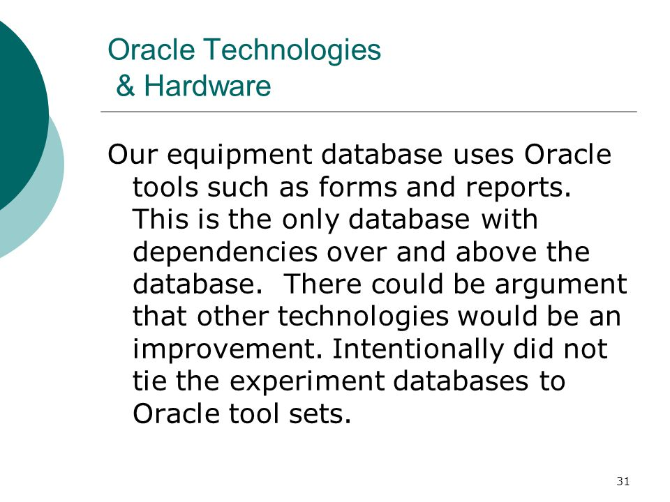 Oracle Technologies & Hardware