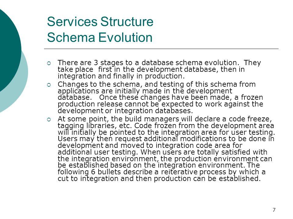 Services Structure Schema Evolution